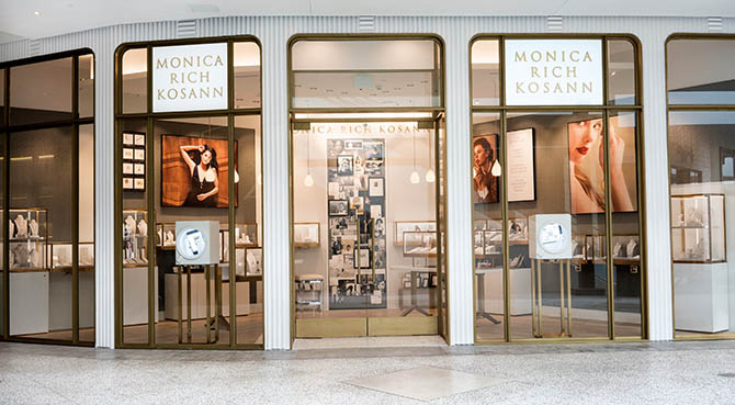 The Monica Rich Kosann Los Angeles boutique in Westfield Century City shopping center. Photo courtesy