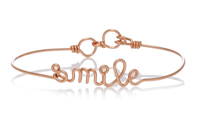 Atelier Paulin Smile 14K Rose Gold Bracelet, $250