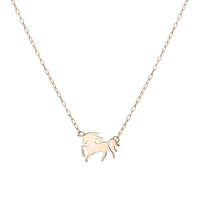 Jennifer Fisher Femme the Unicorn Pendant, $450