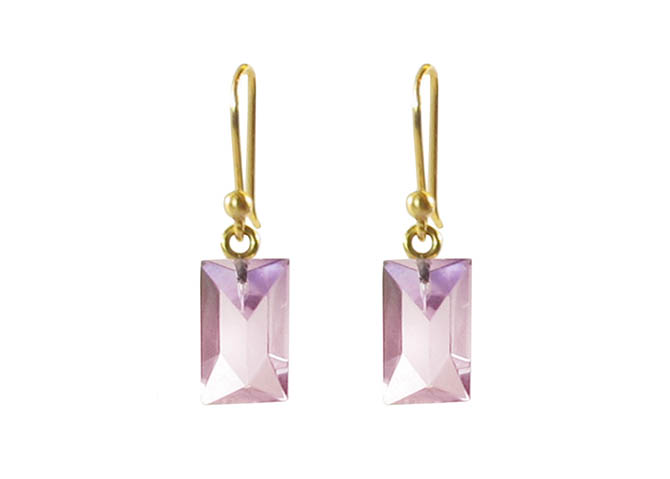 Ted Muehling 14K Gold and Amethyst Earrings, $150