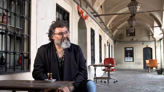 A film still of Sevan Bıçaçkı in Istanbul from documentary about his life. Photo courtesy