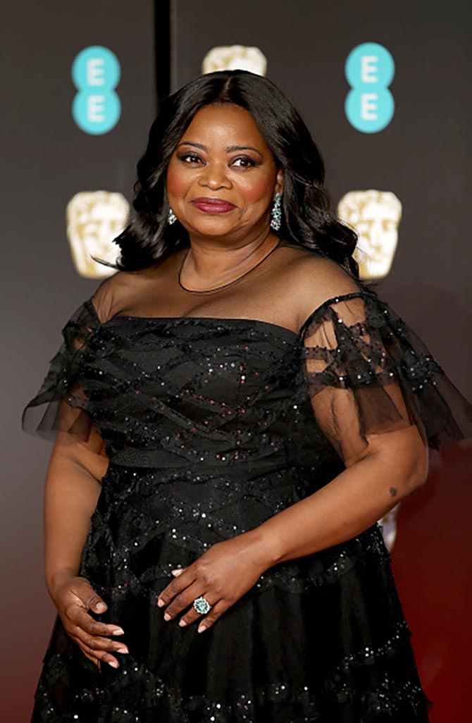 Octavia Spencer in Chopard jewelry.