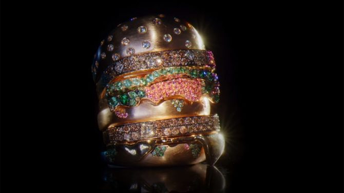 Nadine Ghosn's Bling Mac ring. Photo McDonald's