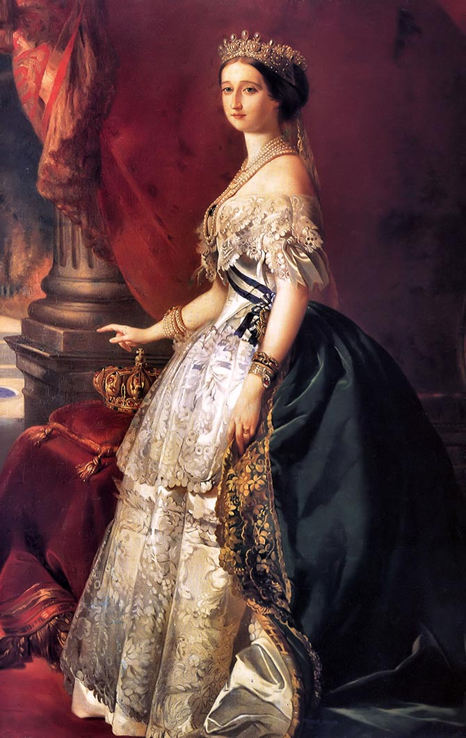 Portrait of Empress Eugénie by Franz Xaver Winterhalter, 1853