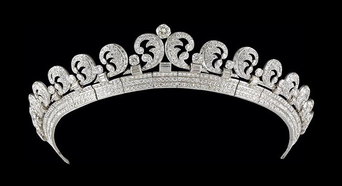 The Cartier Halo Tiara worn by Kate Middleton on her wedding day.