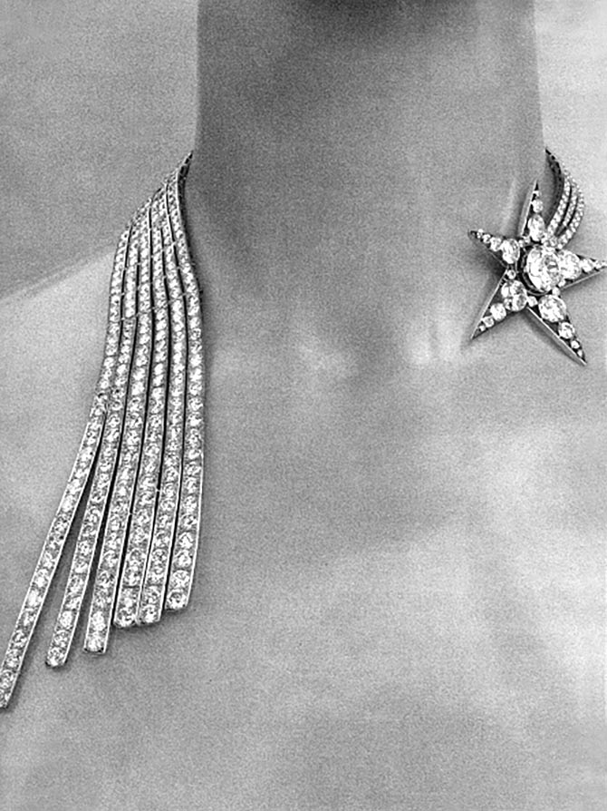 Diamond Comet Necklace from Coco Chanel's 1932 collection. Photo Getty