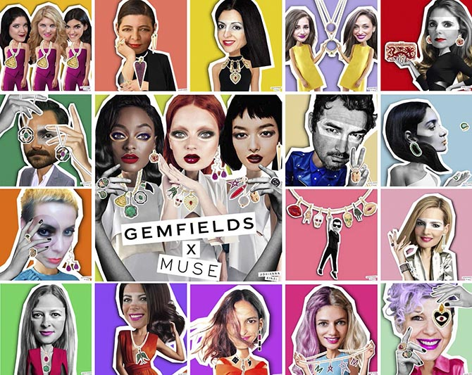 Designers in the Gemfields x Muse collab