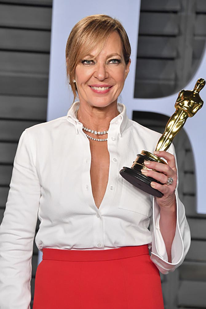 Allison Janney in diamond necklaces from Forevermark