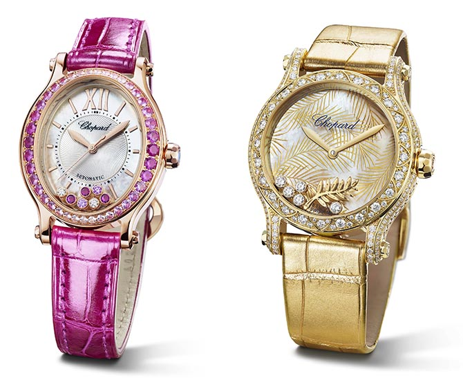 Chopard watches shown at Baselworld Photo courtesy