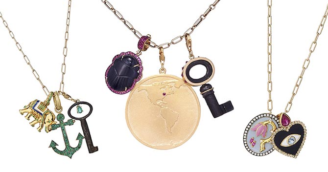 Charms from various designers in the Gemfields x Muse collaboration. Photo courtesy