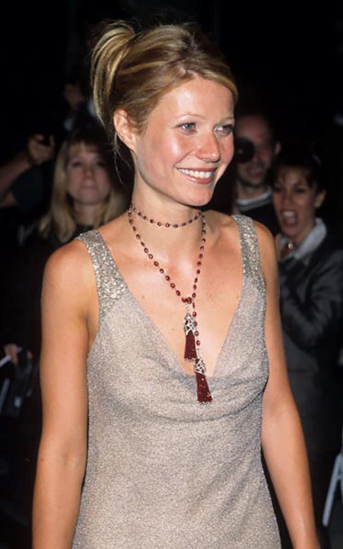 Gwyneth Paltrow in a Cathy Waterman necklace at the 2000 Oscars