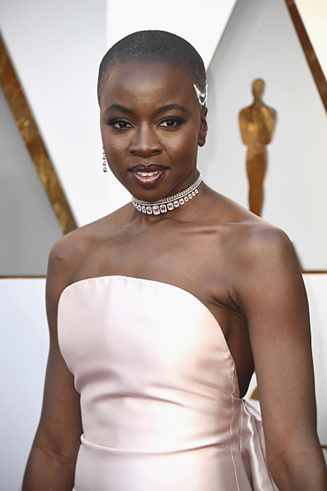 Danai Gurira, star of 'Black Panther', was stunning wearing the new 2018 High Jewelry Siren Song choker and bracelet, the High Jewelry Brilliant Cut ear cuff