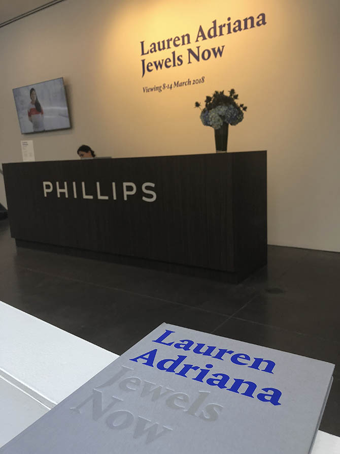 Lauren Adriana book and exhibit at Phillips in New York