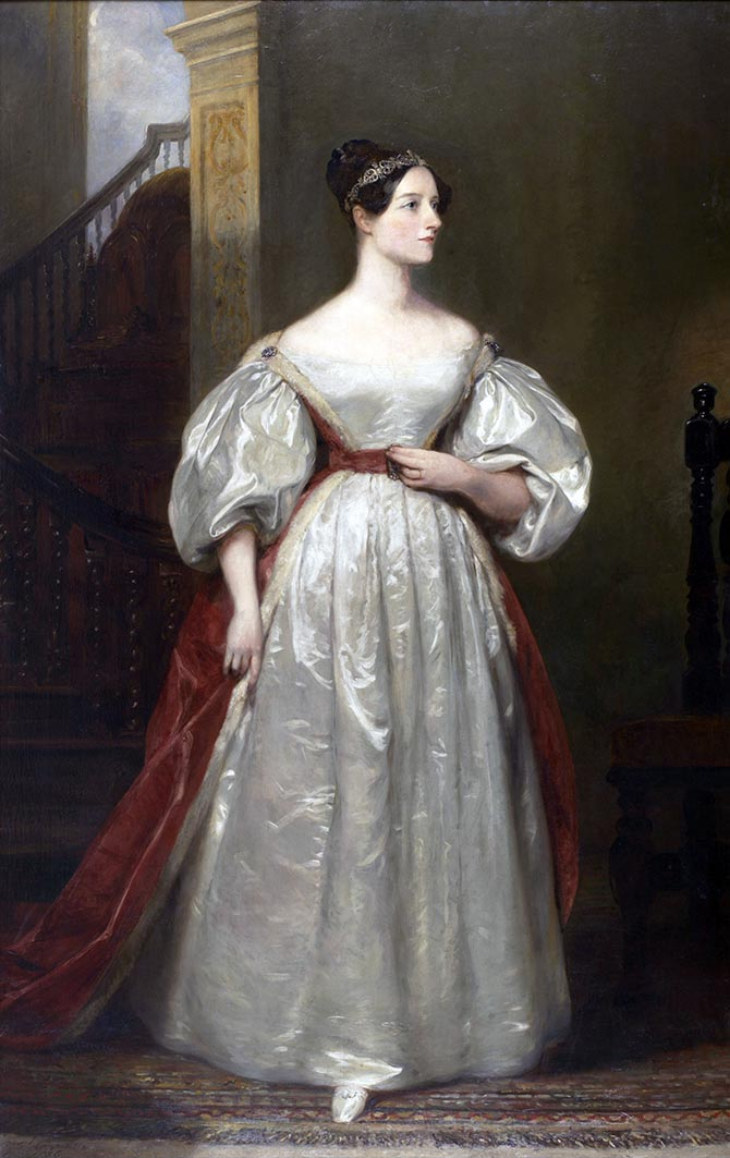 Portrait of Ada Lovelace by Margaret Sarah Carpenter (1836)
