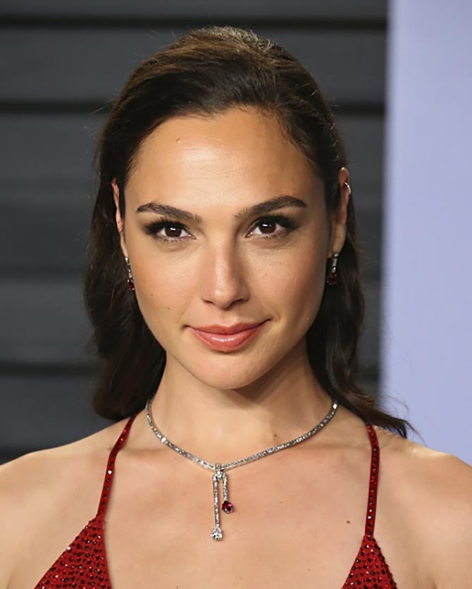 Gal Gado in Tiffany jewelry at the Vanity Fair Oscar party