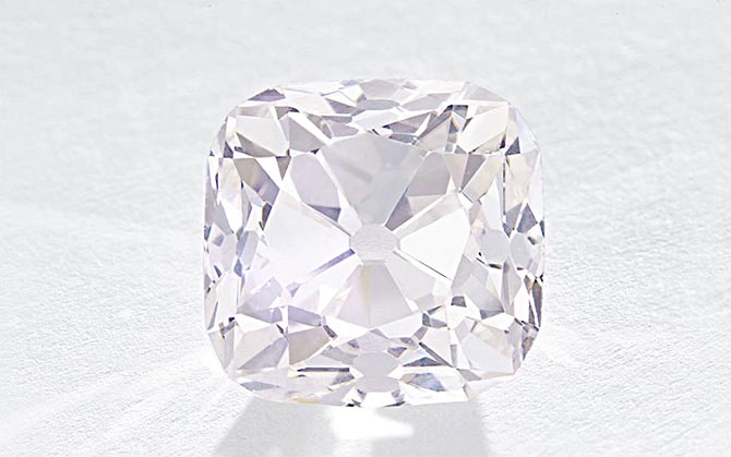 The light 19.07-carat Grand Mazarin diamond from the French Crown Jewels Photo Christie's