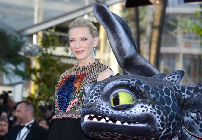 Cate Blanchett in Chopard jewels at the 2010 premiere of How to Train Your Dragon.
