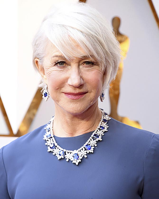 Helen Mirren in Harry Winston jewels