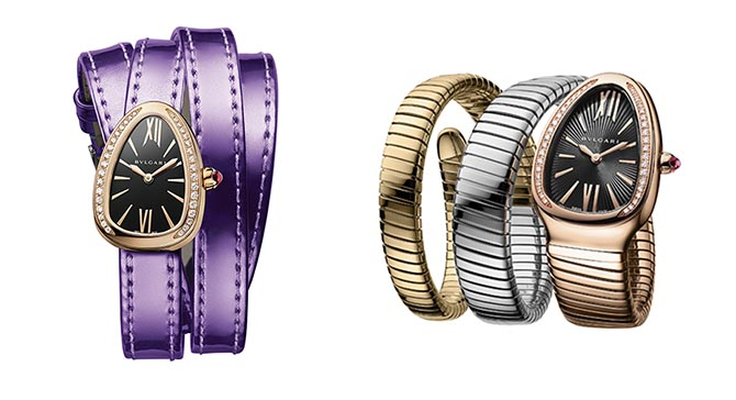 Bvlgari Serpenti watches shown at Baselworld. Photo courtesy