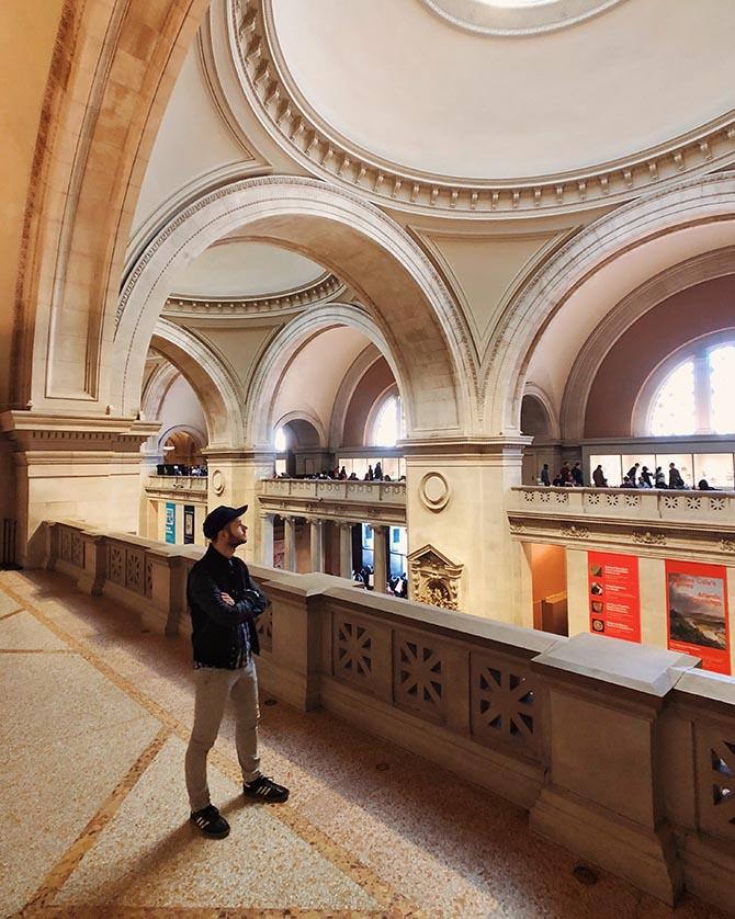 Levi Higgs at the Metropolitan Museum of Art Photo @levi_higgs/Instagram