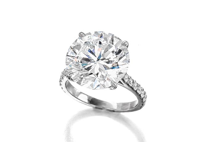 Lot 115: 10.01-carat diamond solitaire ring Photo Bonhams
