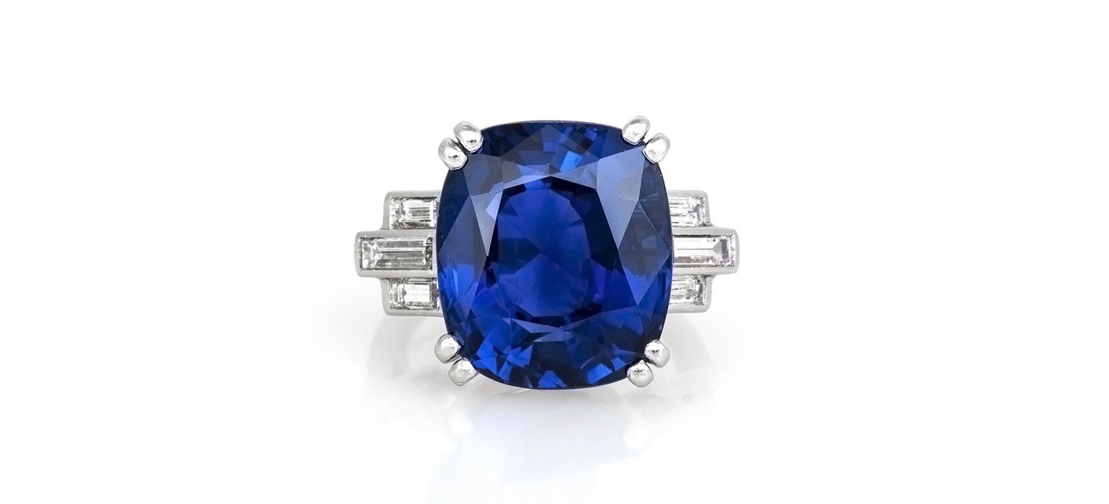 17.13 Carat AGL Certified Ceylon Sapphire Ring from Eric Originals & Antiques on Up On Park