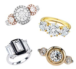 The Adventurine Posts Three Stone Diamond Engagement Rings Galore!