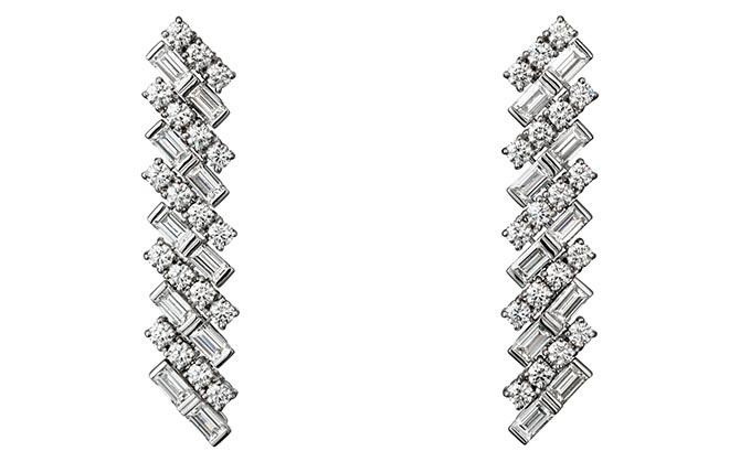 The same style of Reflection de Cartier diamond earrings Meghan Markle is wearing. Photo Cartier