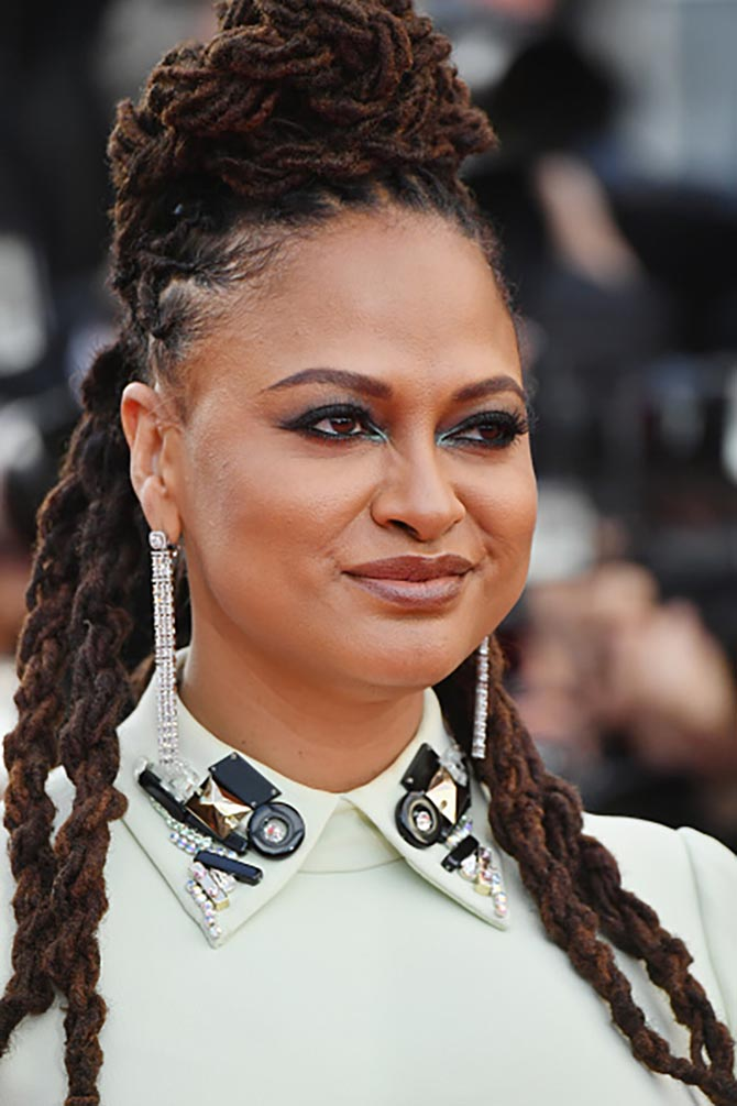 "Ava DuVernay, who is a member of the jury, accessorized her gown with the Zelda earrings from the High Jewelry collection ""Once Upon A Time"" by Messika."