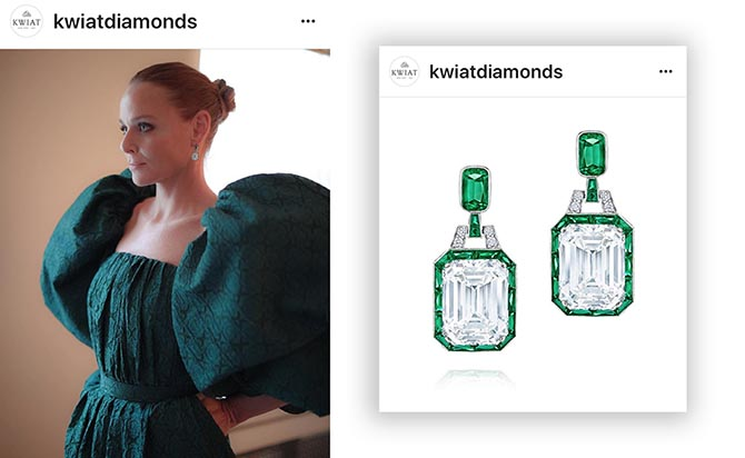 The stunning Kwiat earrings designer Stella McCartney wore were show in a photo series on the jewelers Instagram.