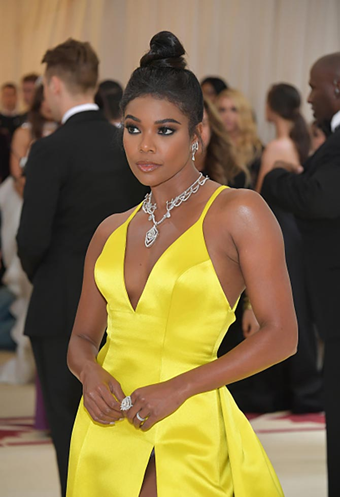 Gabrielle Union wore a Prabal Gurung dress with diamond Tasaki jewels.