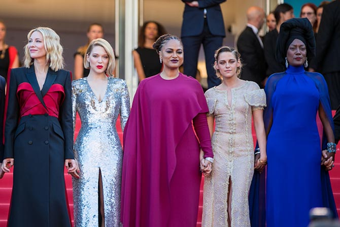 Five women on the Cannes Jury, Cate Blanchett, Lea Seydoux, Ava DuVernay, Kristen Stewart and Khadja Nin.