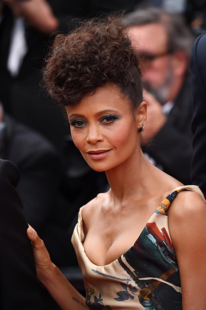 Thandie Newton wore a Vivienne Westwood dress with delicate Chopard jewels.