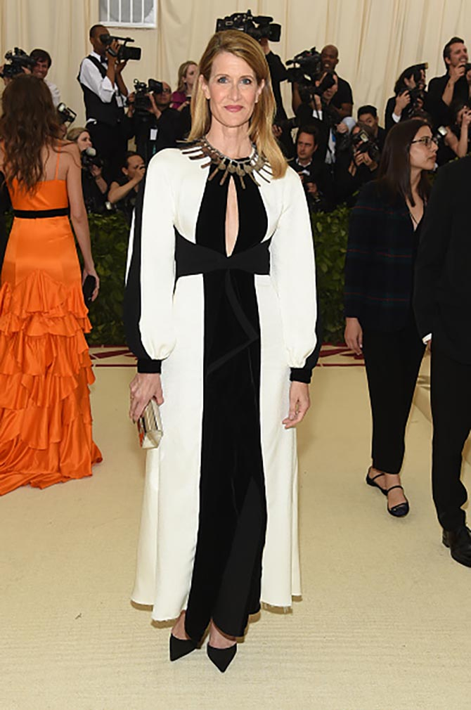 Laura Dern put on a rare necklace by the artist Alexander Calder with her Proenza Schouler gown.