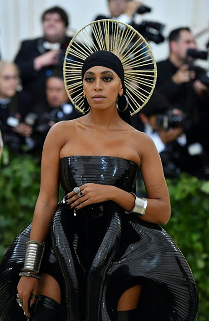 Solange paired a futurist Iris van Herpen dress with jewelry from Ofira.