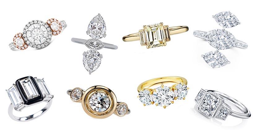 The AdventurinePostsThree Stone Diamond Engagement Rings Galore!