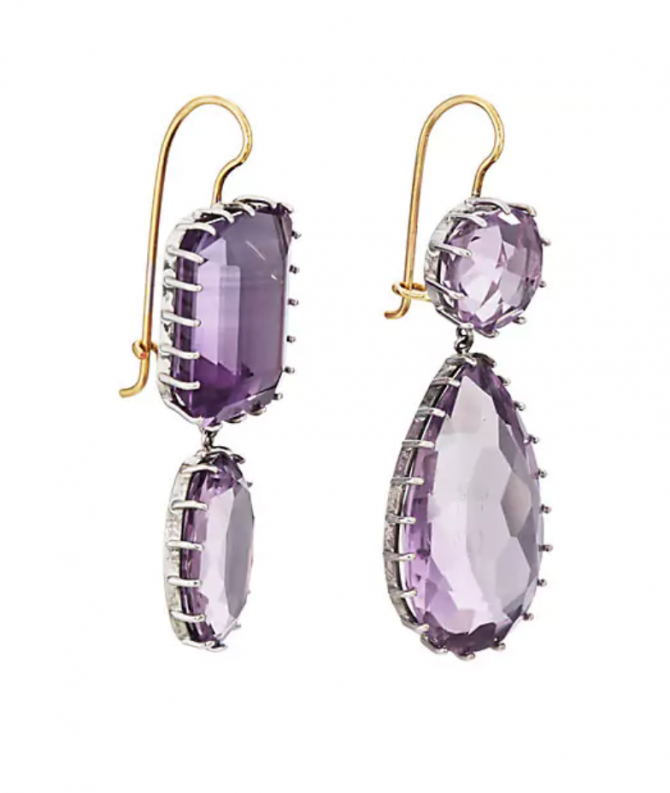Renee Lewis Amethyst earrings