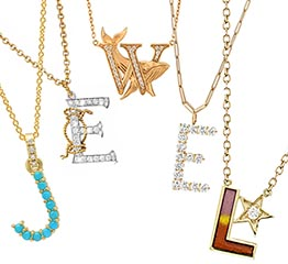 The Adventurine Posts What's Hot Now: The New Initial Necklaces