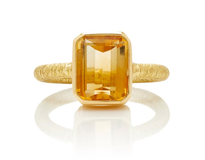Brent Neale citrine and gold ring