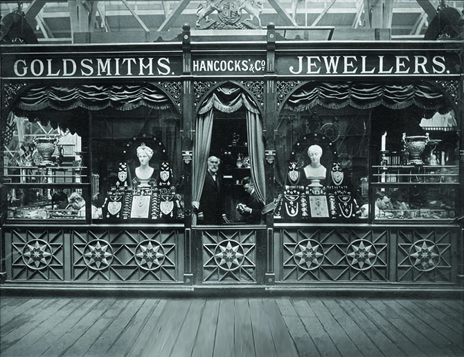 The Hancocks stand at The Vienna Exhibition in 1873 Photo courtesy