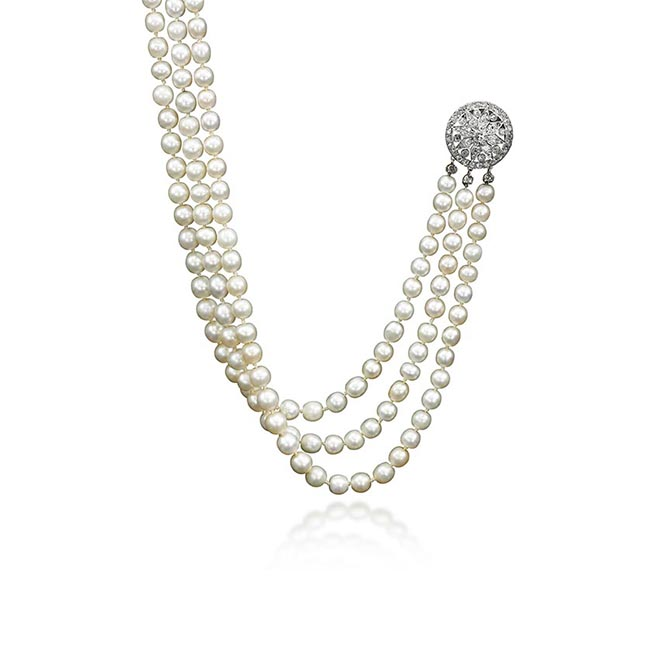 Marie Antoinette's necklace features 331 natural pearls. Sotheby's estimate for the necklace is $200,000 - 300,000