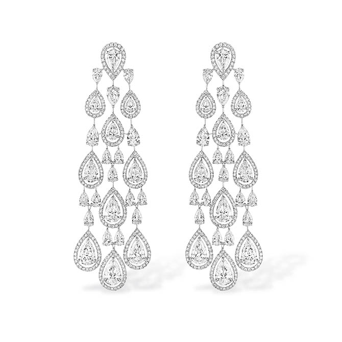 Messika Persian Drop diamond earrings worn by Beyoncé in Apesh**t video. Photo courtesy
