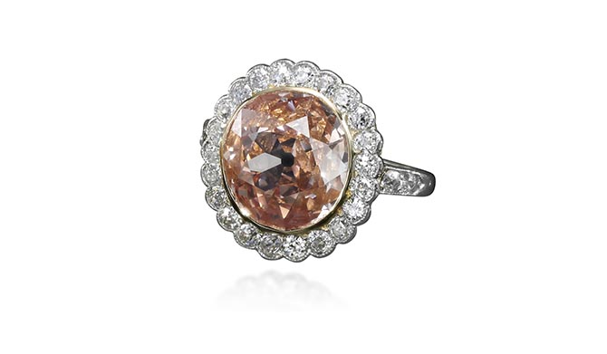 Archduchess Maria Anna of Austria's Orange Pink Diamond Ring. Photo Sotheby's