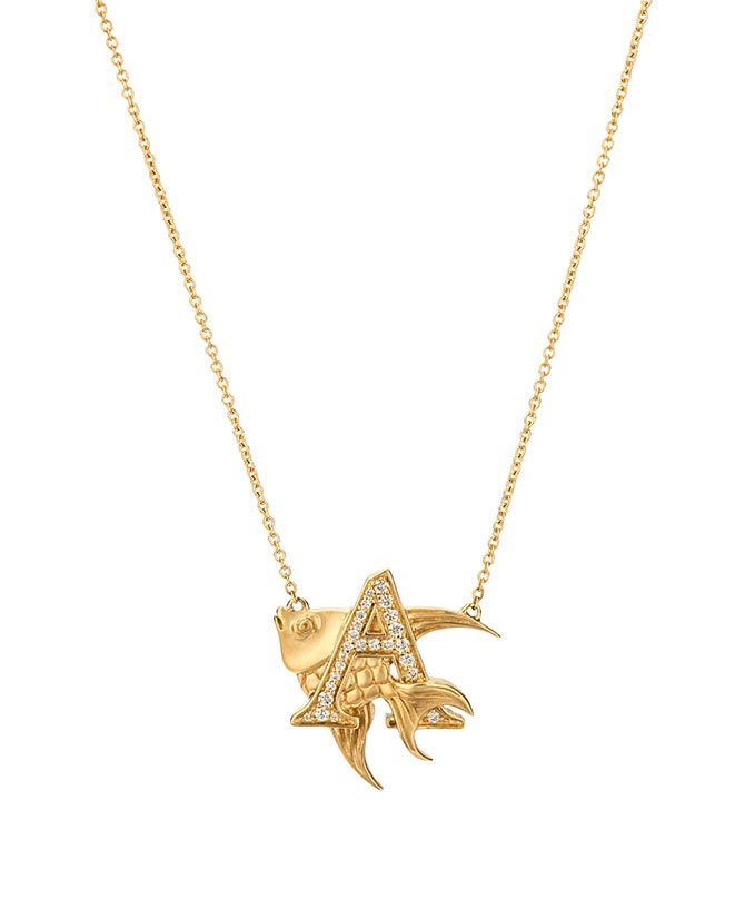 Stephen Webster Fish Tales Initial Pendant - A for Angelfish