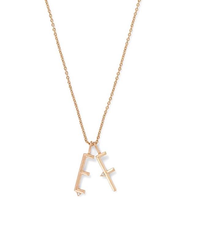 Eva Fehren Initial Charm Necklace
