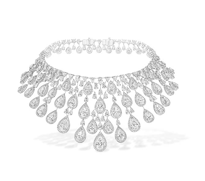 Messika Persian Drop diamond necklace worn by Beyoncé in Apesh**t video. Photo courtesy