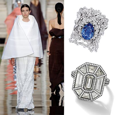 The Adventurine Posts Engagement Rings For A Couture Wedding Gown