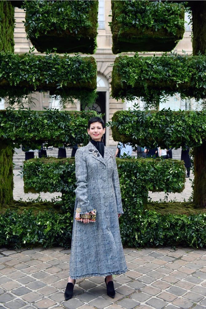 Lauren Kulchinsky Levinson at Givenchy 2018 Haute Couture show in Paris. Photo courtesy
