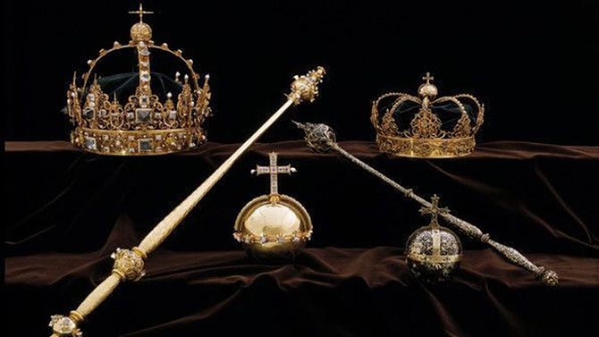 Crown Jewels of Sweden. Photo