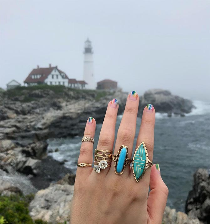 Gem Gossip on a jewelry road trip in Maine. Photo @GemGossip/Instagram
